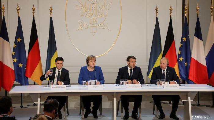За результатами зустрічі лідери України, Німеччини та Франції та Росії оприлюднили спільну заяву