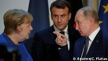 Paris Ukraine-Gipfel Merkel Putin