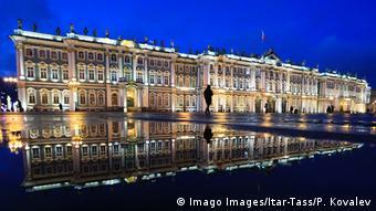 To εμβληματικό μουσείο Ερμιτάζ της Αγίας Πετρούπολης