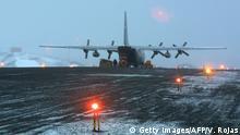 Antarktis C-130 Transportflugzeug aus Chile