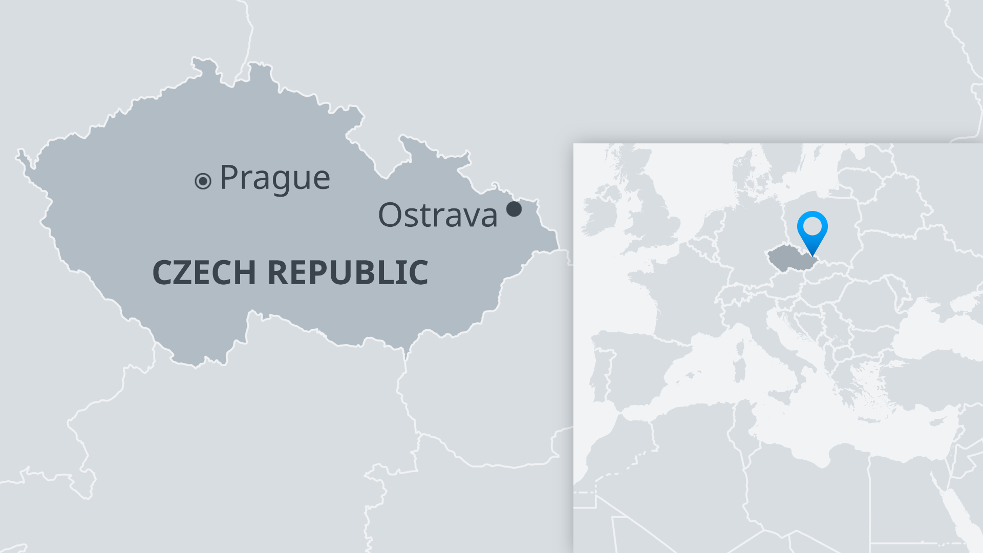 Location of Ostrava in the Czech Republic