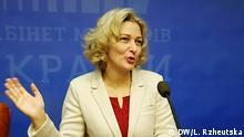 Die ukrainische Sprachenombundsfrau Tetyana Monachowa. Foto: DW-Korrespondentin in der Ukraine Lilia Rzheutska.