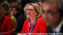 10.12.2019, Spanien, Madrid: Svenja Schulze (SPD), Umweltministerin, nimmt bei der UN-Klimakonferenz an einer Veranstaltung teil. Foto: Jesús Hellín/Europa Press/dpa +++ dpa-Bildfunk +++ |
