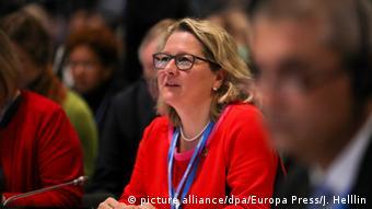 Ministra alemã do Meio Ambiente, Svenja Schulze, na Conferência da ONU sobre o Clima (COP25), em Madri