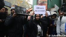Indien l Internetblockade für Kaschmir l Journalisten im Medienzentrum in Srinagar