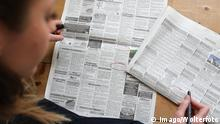 Deutschland Immobilien l Wohnungssuche - Zeitungsanzeige