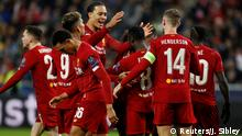 Fussball Champions League l Red Bull Salzburg vs Liverpool l Tor 0:1 Jubel