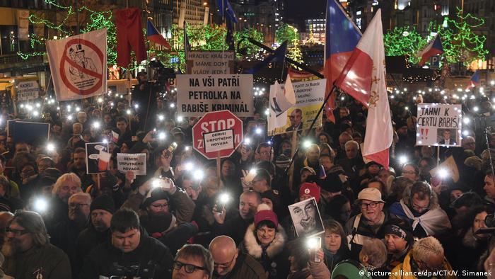Demonstration against Czech prime minister Babis in Prague