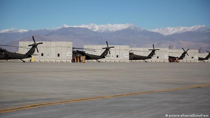 US helicopters deployed at Bagram Air Base