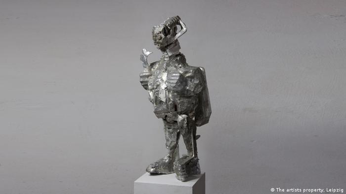Skulptur aus Aluminiumguss (The artists property, Leipzig)