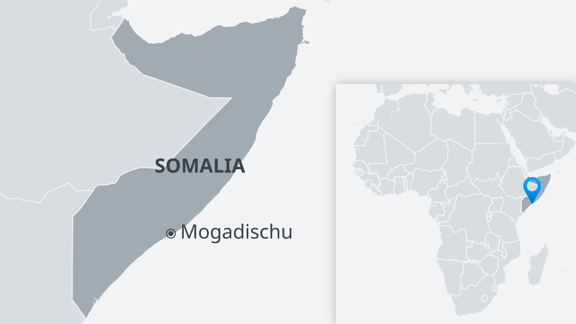 Karte Mogadischu Somalia