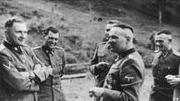 Rudolf Höss and other Nazi leaders (AP)