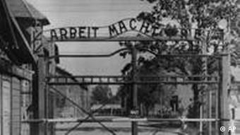 The main gate of the Auschwitz concentration camp