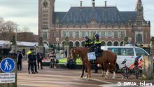 Niederlande Justiz l Protest gegen die Führer Myanmars vor dem Internationalen Gerichtshof in Den Haag