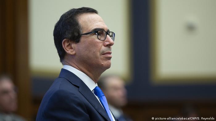 USA Washington | Finanzminister Steven T. Mnuchin (picture-alliance/abaca/CNP/S. Reynolds)