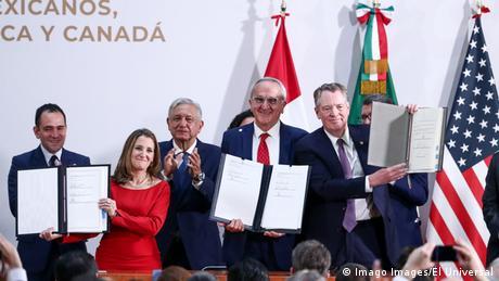 Foto de firma de tratado T-MEC