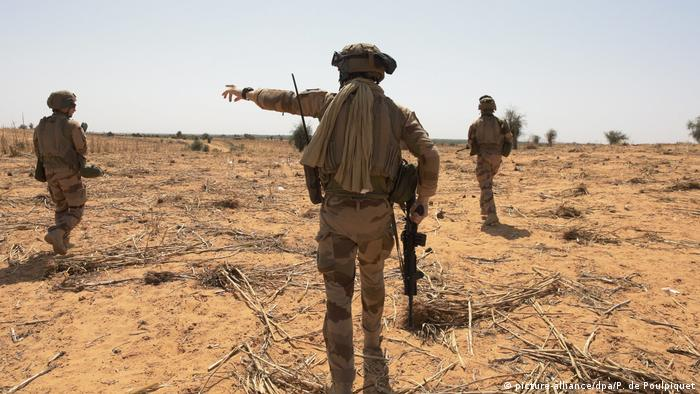 Nigerien soldiers in the Sahel region