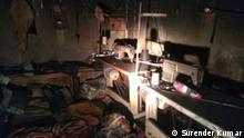 Indien Brand in einer illegalen Fabrik in Neu-Delhi