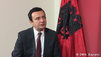 Kosovo Pristina Interview Albin Kurti Adelheid Feilcke (DW/A. Bajrami)