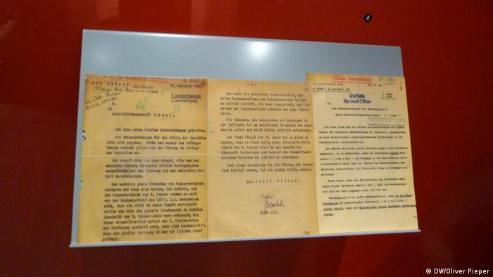 Във военния музей в Бастон, Белгия, е изложена тайната заповед на Хитлер за започване на офанзивата в Ардените