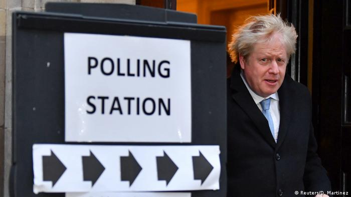 Boris Johnson leaving a polling station