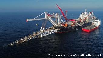 Deutschland Wirtschaft l US-Repräsentantenhaus stimmt für Sanktionen gegen Nord Stream 2 (picture alliance/dpa/B. Wüsteneck)
