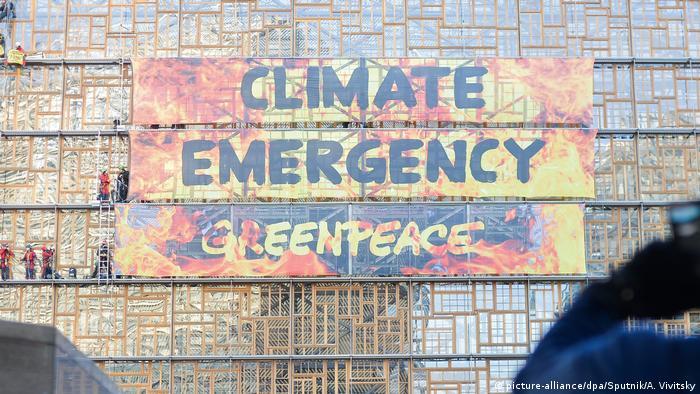 Brüssel EU Gipfel Greenpeace Klima Aktion