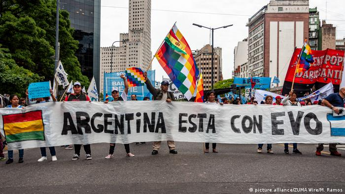 Argentinien l Pro-Morales Demonstration (picture alliance/ZUMA Wire/M. Ramos)