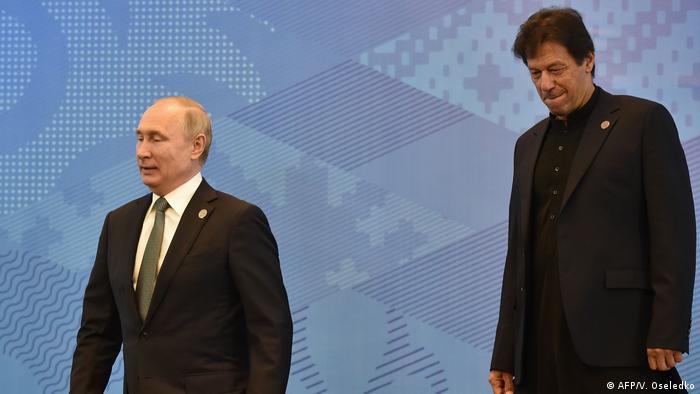 Wladimir Putin und Imran Khan SCO