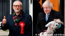 Großbritannien Parlamentswahlen Kombo Corbyn Johnson