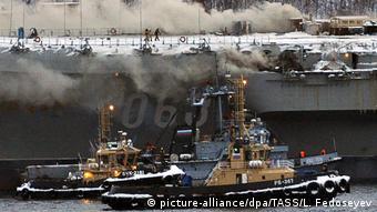 Murmansk Feuer auf Russischem Flugzeugträger Admiral Kusnezow