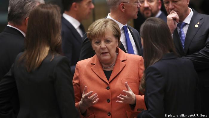 Angela Merkel w gronie unijnych przywódców