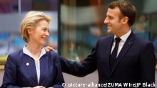 Brüssel EU Gipfel | Ursula von der Leyen und Emmanuel Macron