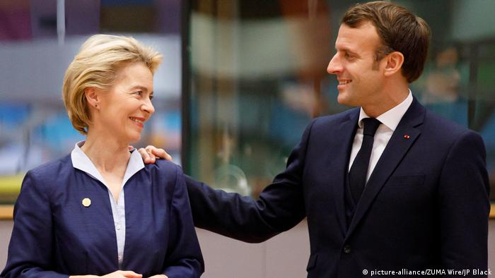 Emmanuel Macron este mulţumit de propunerile Ursulei von der Leyen