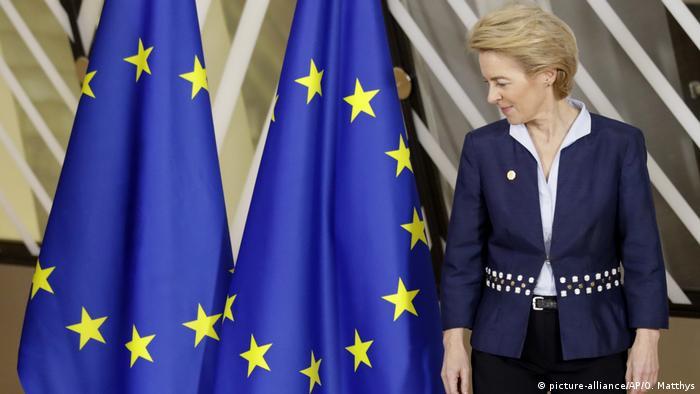 Ursula von der Leyen at the EU summit in Brussels
