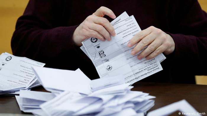Ballots are tallied at a counting centre for Britain's general election (Reuters/L. Smith)