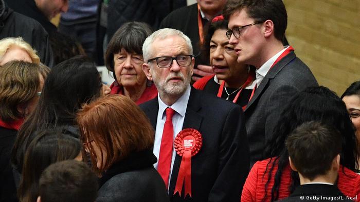 UK Wahlen 2019 | Jeremy Corbyn bei Auszählung