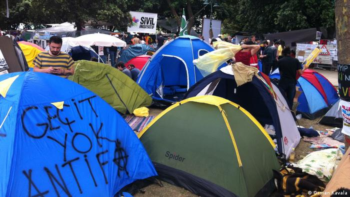 Tents at the Gezi Park protests in 2013 (Osman Kavala)