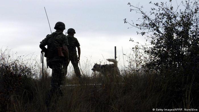 Soldaten an der griechisch-türkischen Grenze
