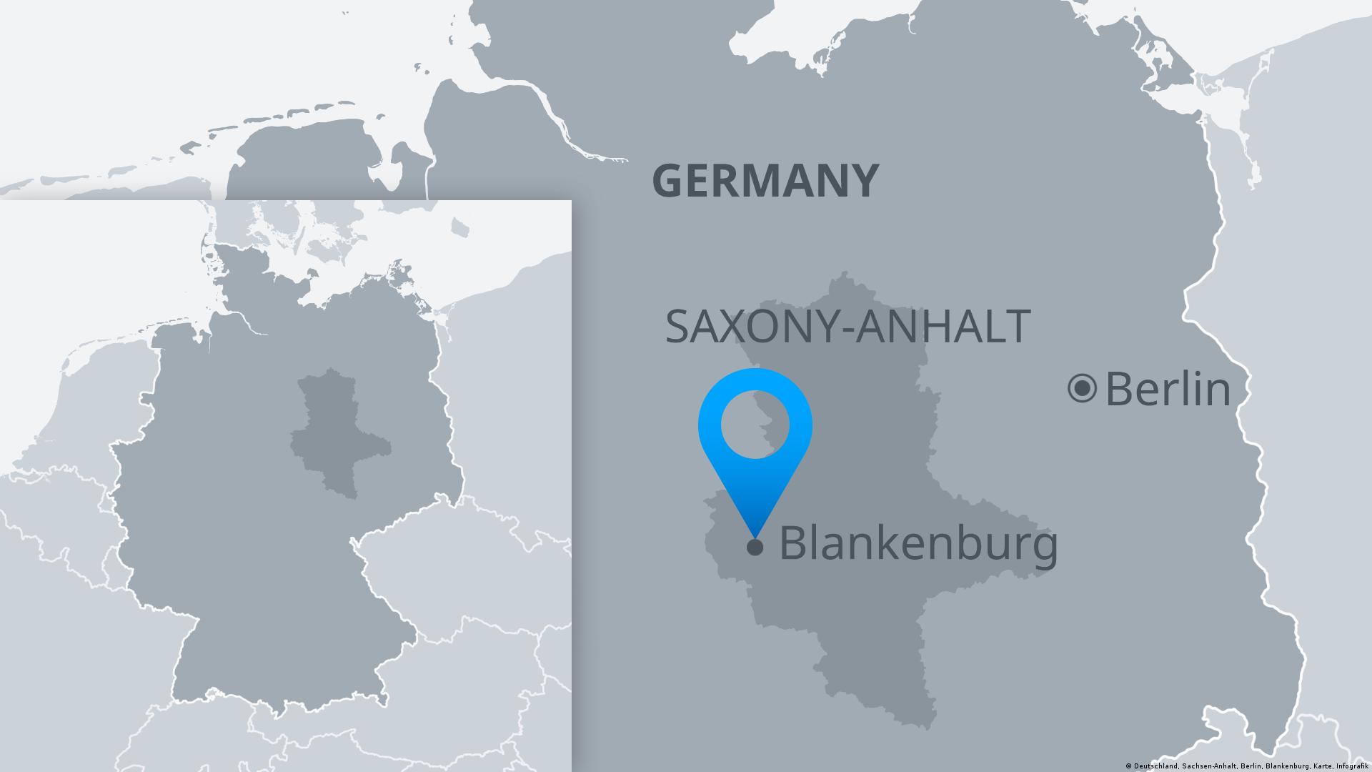 Map showing location of Blankenburg