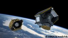 Date: 05 November 2019 Satellite: CHEOPS Copyright: ESA/ATG medialab Artist's impression of the launch of ESA's CHEOPS mission, shortly after CHEOPS separated from the launch vehicle's Fregat stage.