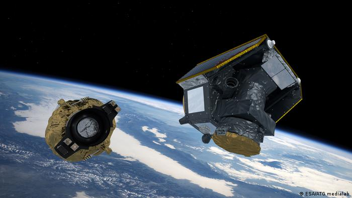 ESA's CHEOPS space telescope shortly after separation from the transport vehicle. (ESA/ATG medialab)