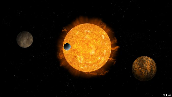 A sun with three exoplanets (ESA)