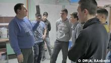 Serbien Belgrad Praktische Arbeit an der Bauschule