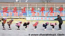 Peking Kinder trainieren für Olympia 2022