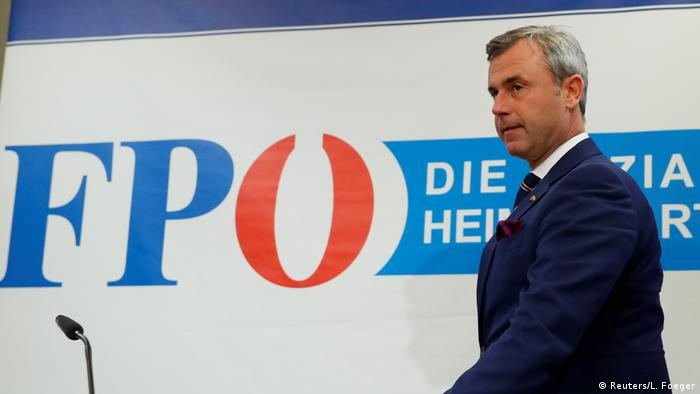 Head of Austria's Freedom Party Norbert Hofer arriving for a press conference in Vienna