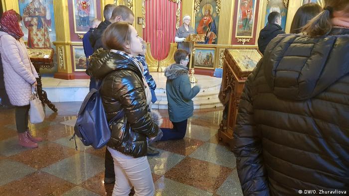 Ukraine Kiew   Gottesdienst St. Michaelkloster