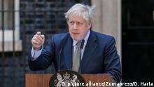 December 13, 2019, London, UK, UK: London, UK. British Prime Minister and leader of the Conservative Party, BORIS JOHNSON, delivers a statement outside 10 Downing Street after asking Queen Elizabeth II to form a Government, as the Conservative Party wins a majority in the General Election 2019. (Credit Image: © Dinendra Haria/London News Pictures via ZUMA Wire |