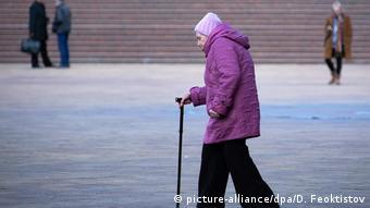 Пожилая женщина в Сочи