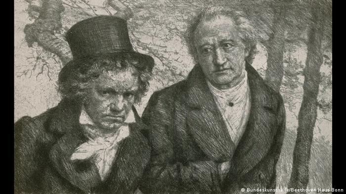 The composer met Johann Wolfgang von Goethe, Germany's most famous man of letters, in 1812. I have never experienced a more concentrated, energetic and ardent artist, Goethe later wrote. Beethoven, for his part, was less impressed: Goethe feels more comfortable in courtly society than befits an artist.